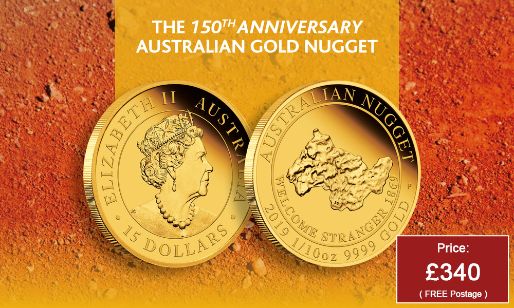 1/10oz Australian Gold Nugget coin
