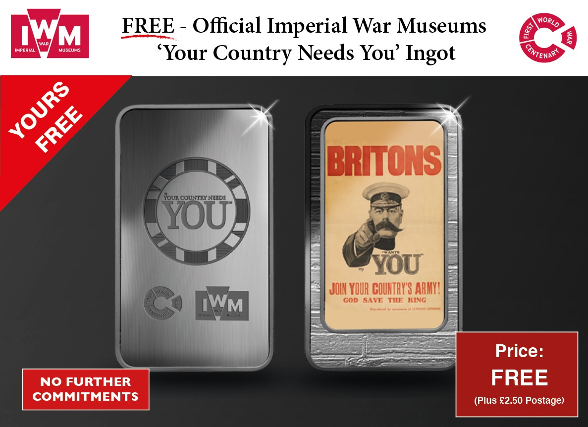 IWM WWI ' Briton's Join Your Country's Army' Ingot