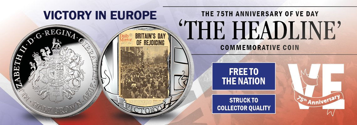 The 75th Anniversary of VE Day Free Coin!