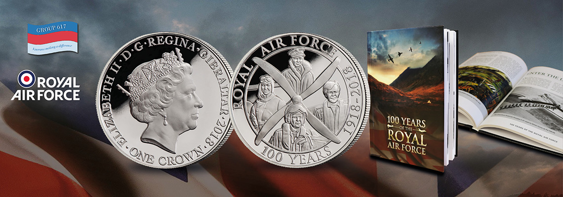 RAF Coin and Book Set