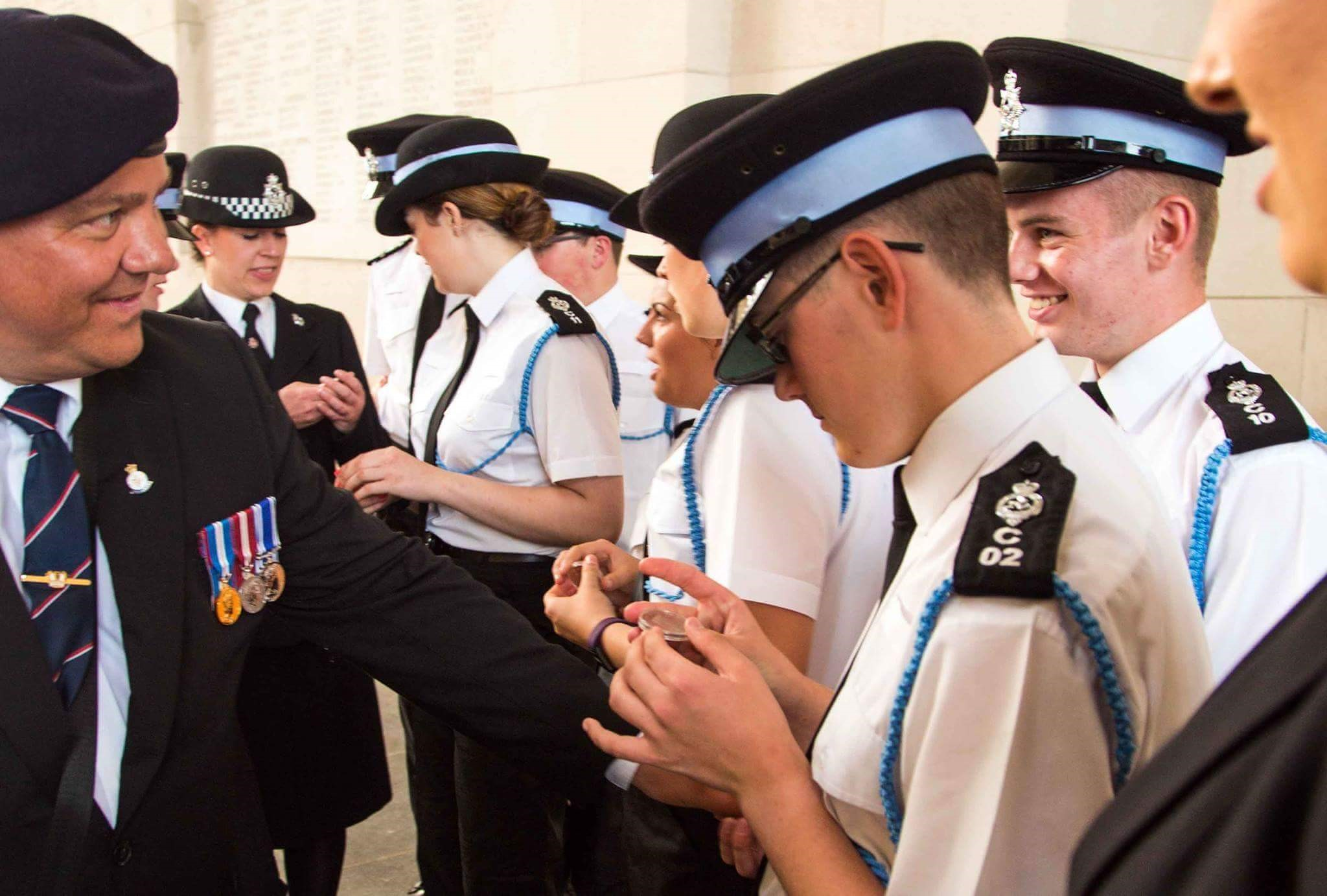 IOM Police Youth Scheme Pay Their Respects To Ypres
