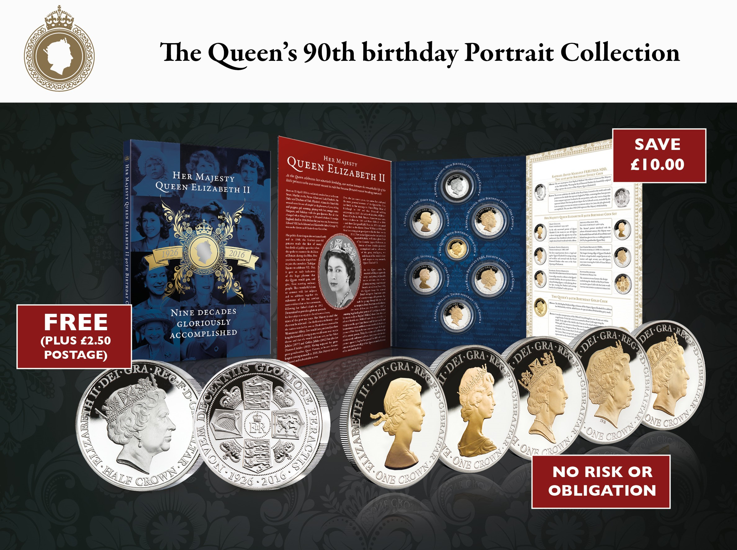 Her Majesty's 90th Birthday Commemorative Crown Collection