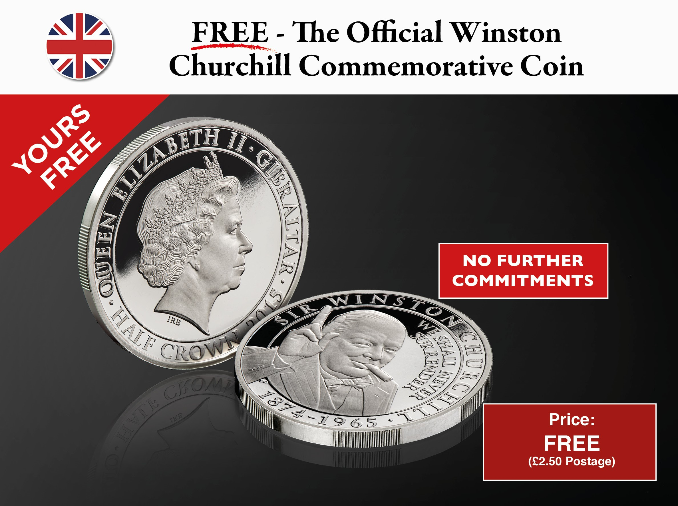 The Winston Churchill Inspiration to a Nation Coin January DEL
