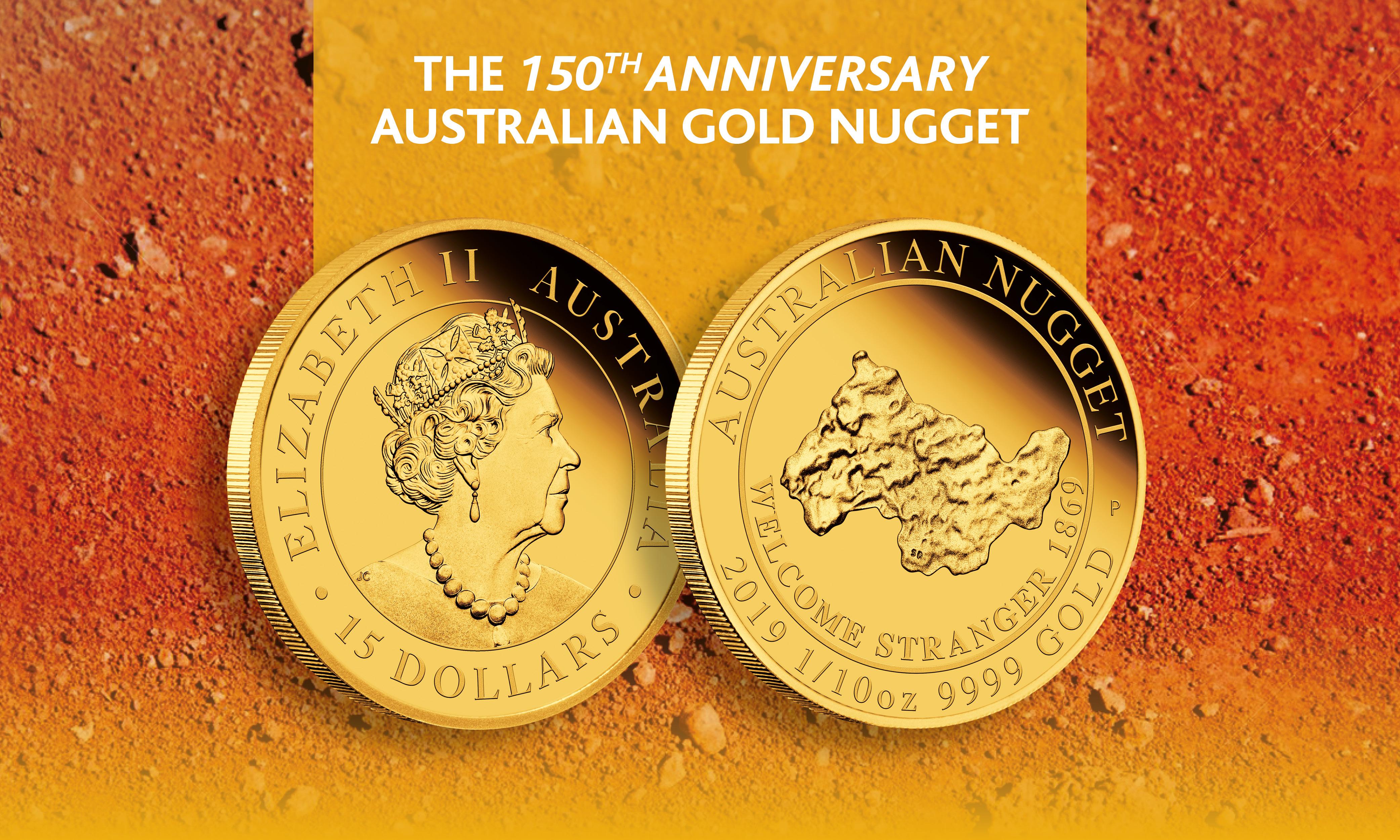 1/10oz Australian Gold Nugget coin