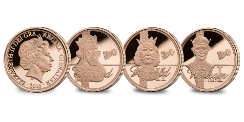 The 1066 Year of The Three Kings Gold Sovereign Set