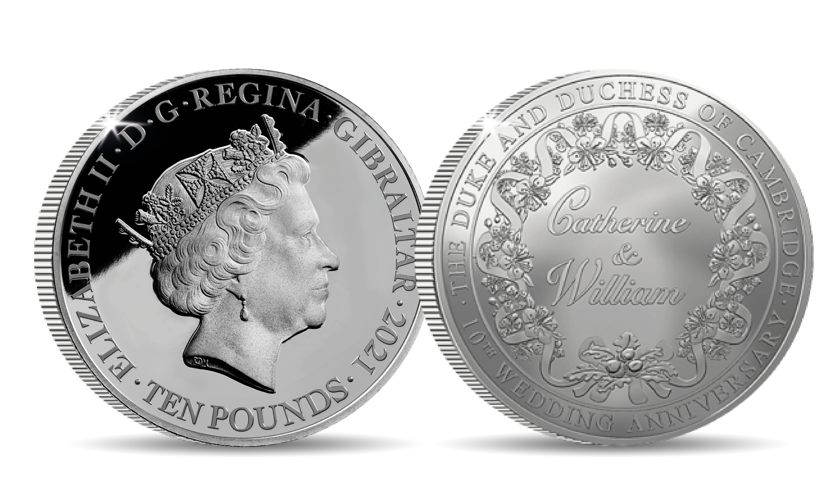 William and Catherine Silver 5oz Sovereign