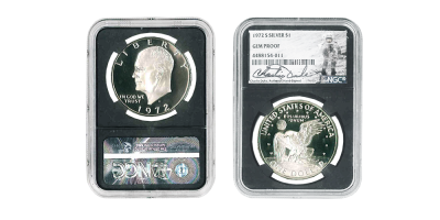 1972 Silver Eisenhower $1 Signed by Charlie Duke