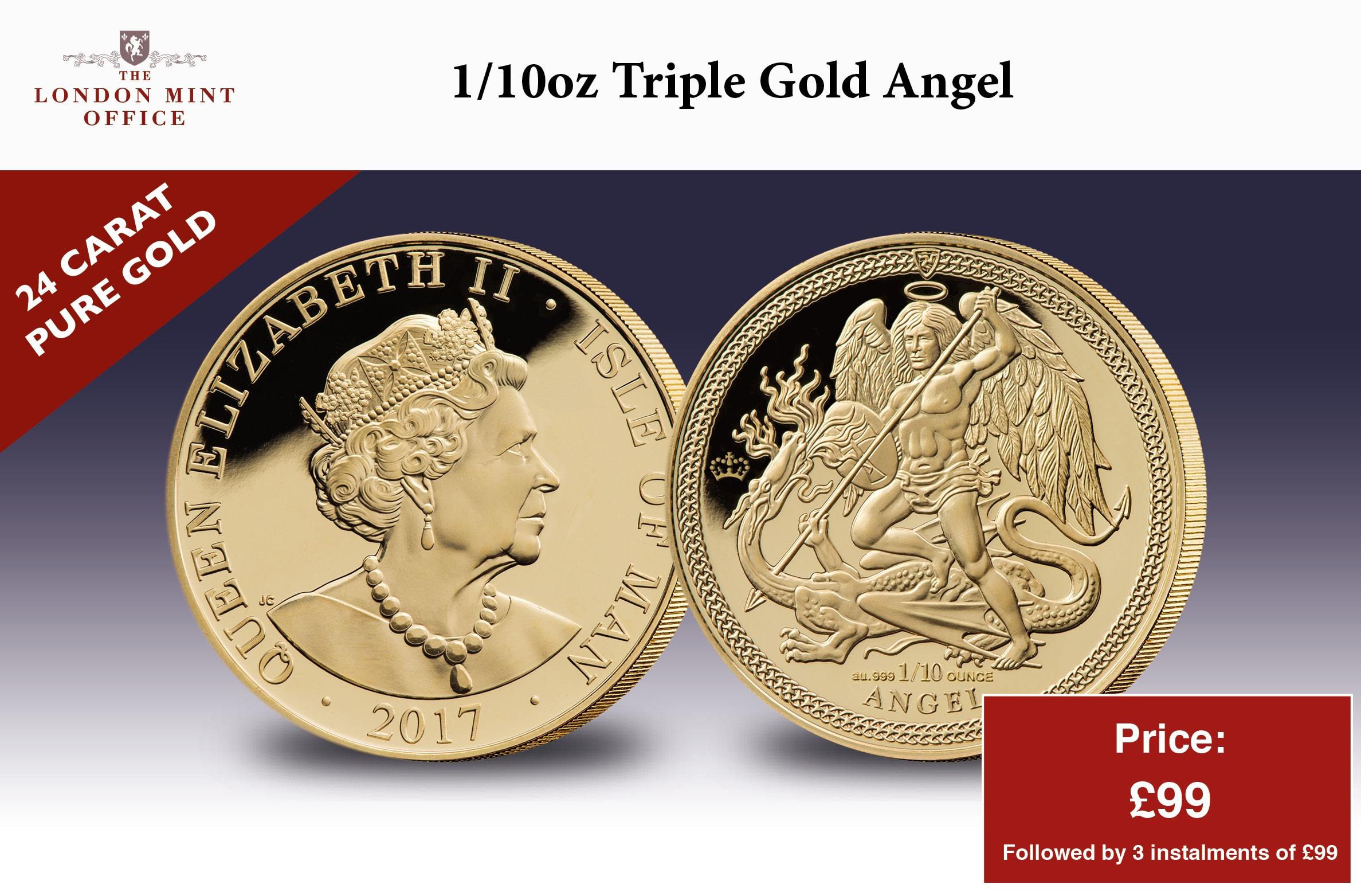 2017 Isle of Man 1/10oz Gold