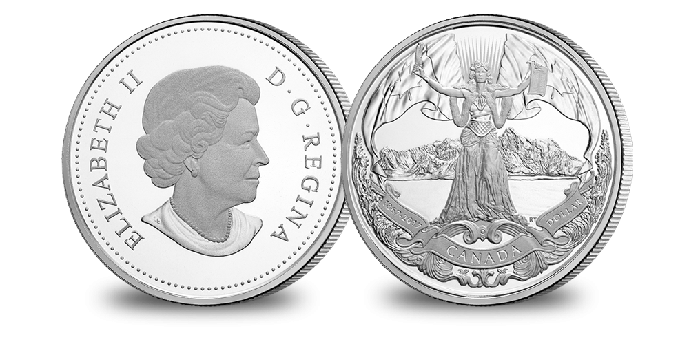 2017 Proof Pure Silver Dollar - 150th Anniversary of Canadian Confederation