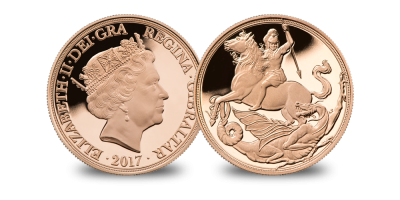 The 200th Anniversary of the 'Saint George and the Dragon' design on a Gold Quarter Sovereign