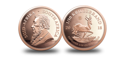 2018 Krugerrand Gold Fractional Set – 1 oz + 1/10 oz + 1/50 oz
