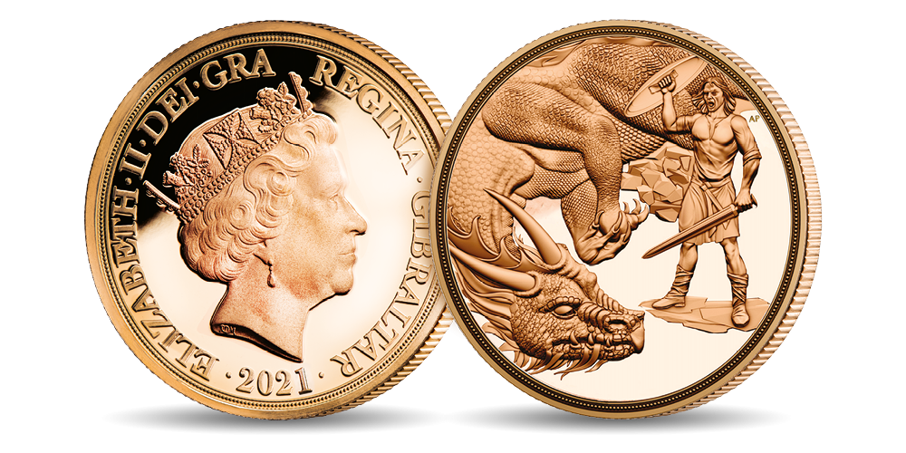 2021 The Dragon Conquered Quarter Sovereign