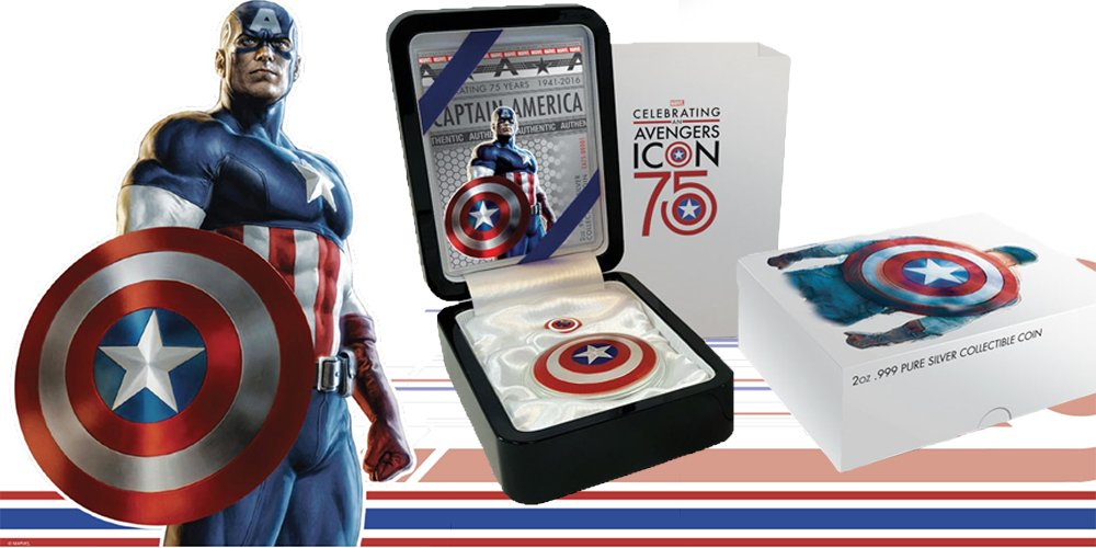 Captain America's 75th Anniversary Shield Coin - 3 Instalments of £99