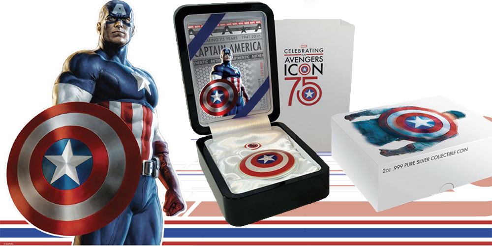 Captain America's 75th Anniversary Shield Coin