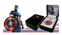 Captain America Coin Presentation Case Captain America's 75th Anniversary Shield Coin