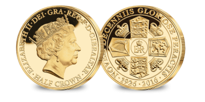 Her Majesty's 90th Birthday Portrait Coin layered in 24 carat gold