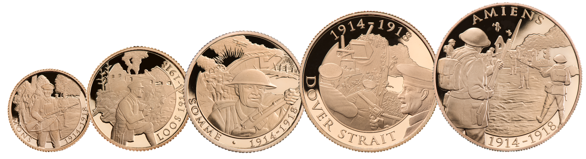 Armistice and Remembrance 100 Struck on the day five sovereign set