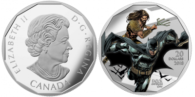 The Justice League 'Batman and Aquaman' 1 oz. Silver Coin