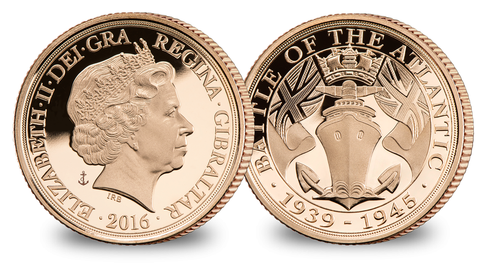 The Official Battle of Atlantic Gold Sovereign