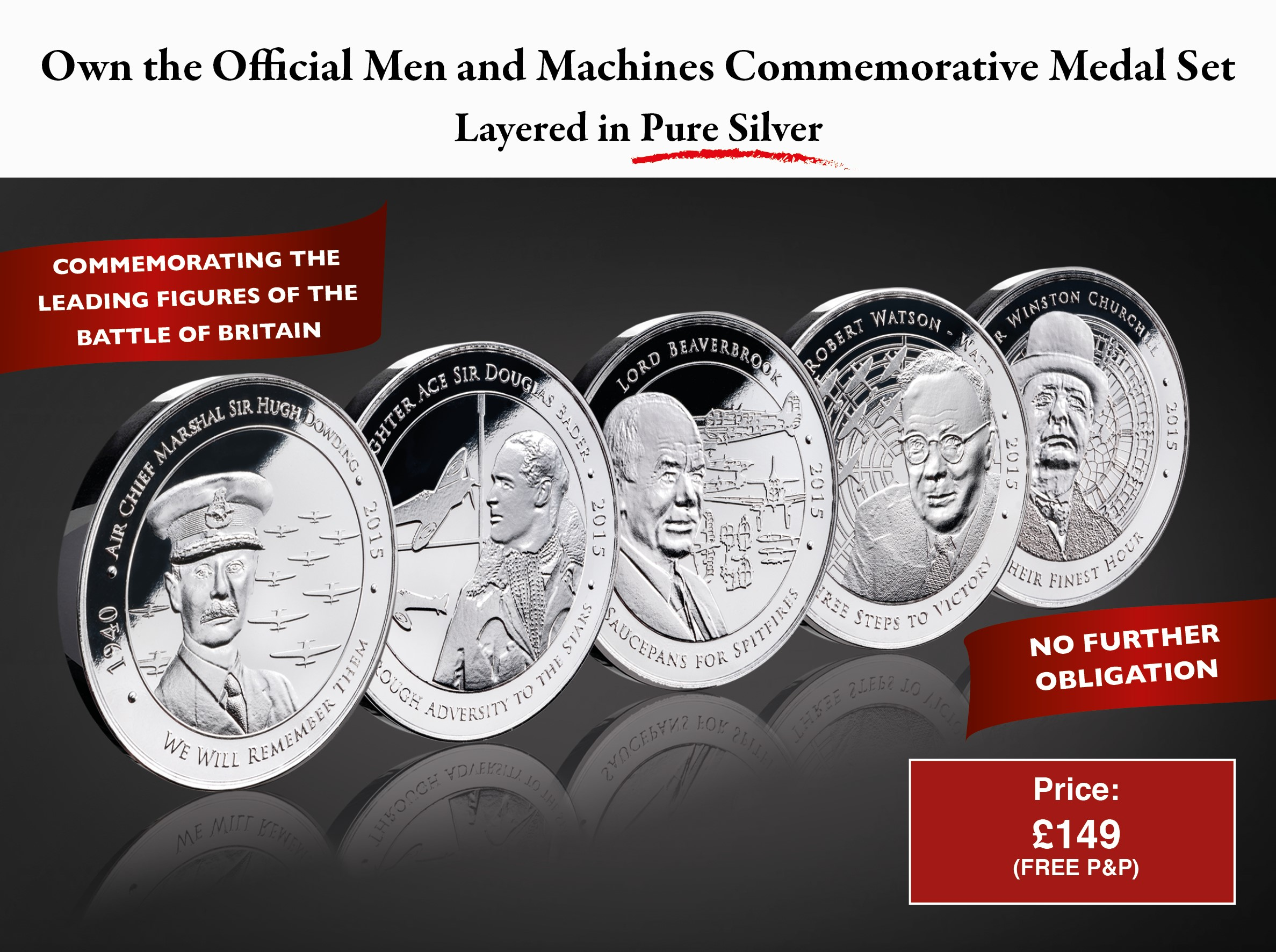 Battle of Britain Men and Machines Medal Set