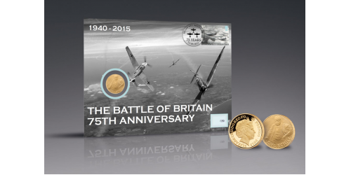 Battle of Britain 75th Anniversary Churchill Coin PNC gold