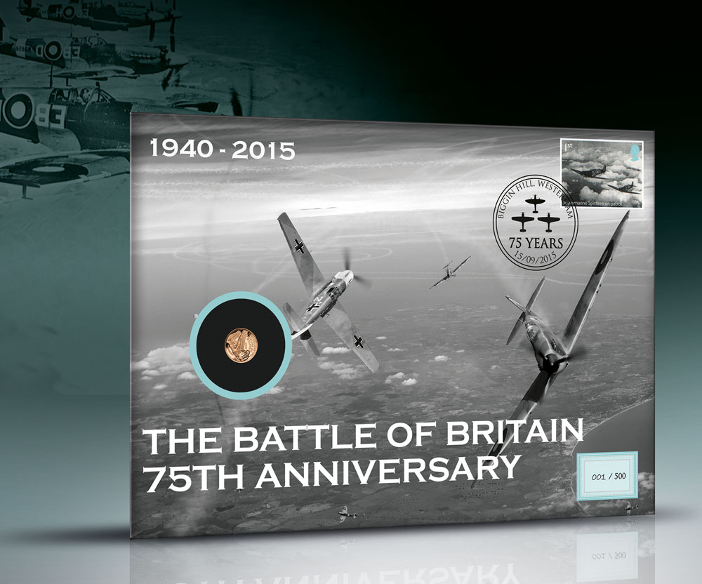 The Official Battle of Britain Gold Quarter Sovereign Stamp Cover