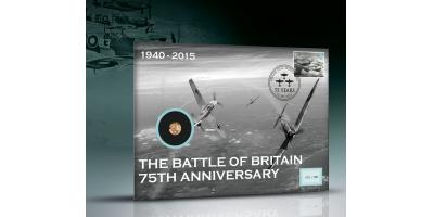 Official Battle of Britain Gold Quarter Sovereign PNC