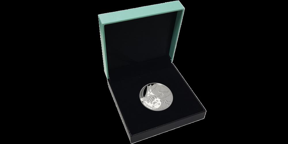Handover to Beijing silver coin