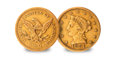 California Gold Rush Set $1 & $2.50 1850-1854