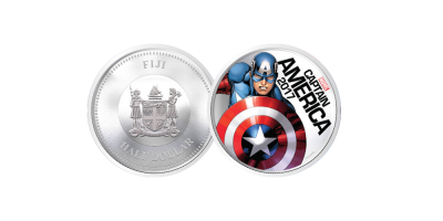 Captain America Light Up Coin