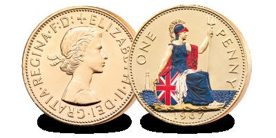 The Last Ever Britannia Penny – layered in pure gold