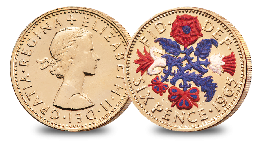 Six Pence The Changing Face of British Coinage - Pre Decimal Set