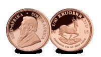 Churchill Medal and Gold Krugerrand (Full 1oz .925 Sterling Silver Medal)