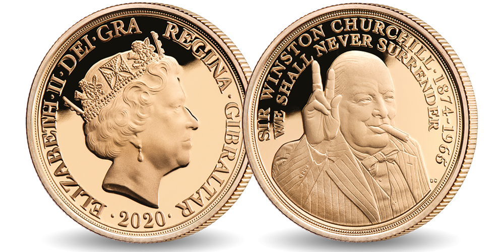 Churchill BU quarter Sovereign