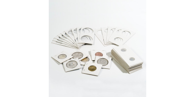 Coin Card Holder Dia 30mm White Pk25
