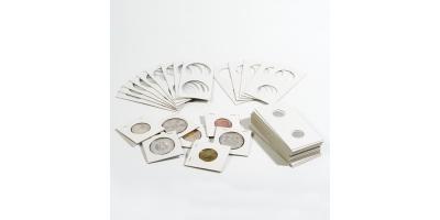 Coin Card Holder Dia 32.5mm White Pk25