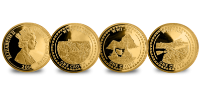 WWI Land Sea and Air 3 Coin Set
