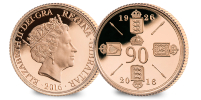Queen Elizabeth II 90th Birthday Gold Sovereign