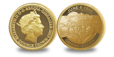 The Official Merchant Navy Association D-Day 75 Omaha Beach Coin