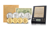 Eight original coins documenting American history