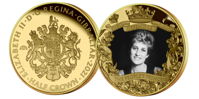 The Diana 60th Birthday 'The People's Princess' Fairmined Gold Layered Coin