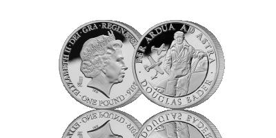 Douglas Bader Silver £1 Piedfort Coin