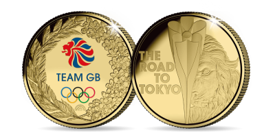 The Official Team GB 'The Road to Tokyo' Fairmined Gold Layered Medal