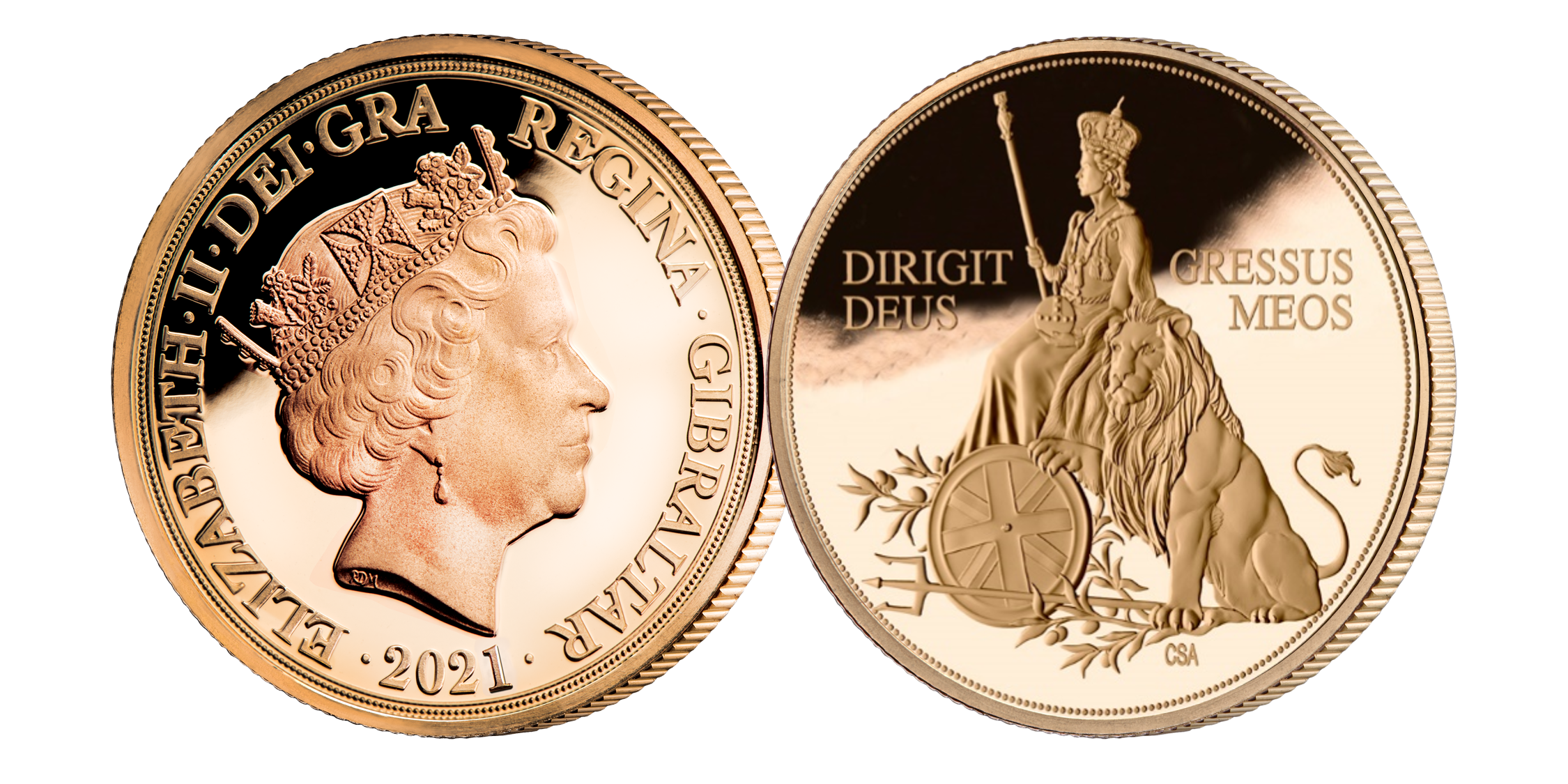 Coin feature Her Majesty Queen Elizabeth II along side a Lion  which symbolises great beauty, strength and endurance – three attributes shared by our current Queen herself