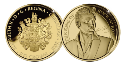 The Elvis Presley 1/10th Gold Crown