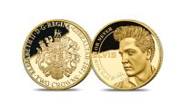 Struck in solid 9-carat gold - The Official It's Now or Never Gold Completer Elvis King of Rock 'n' Roll coin