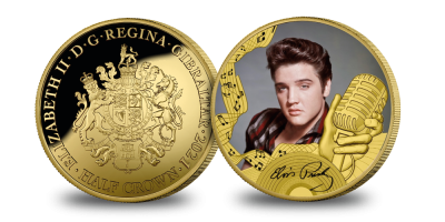 The Official Elvis Presley 'The King of Rock 'n' Roll' Gold Layered Coin