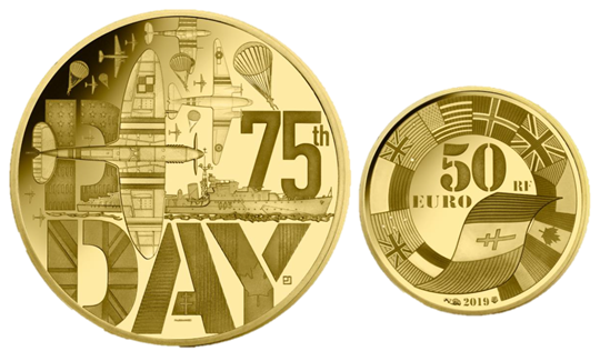 D-Day Farmined Gold Coin