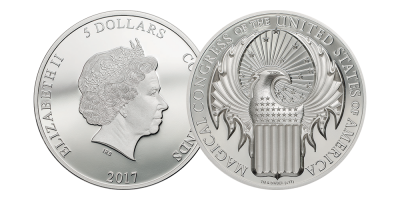 Official Licensed Fantastic Beasts and Where to Find Them Silver Coin