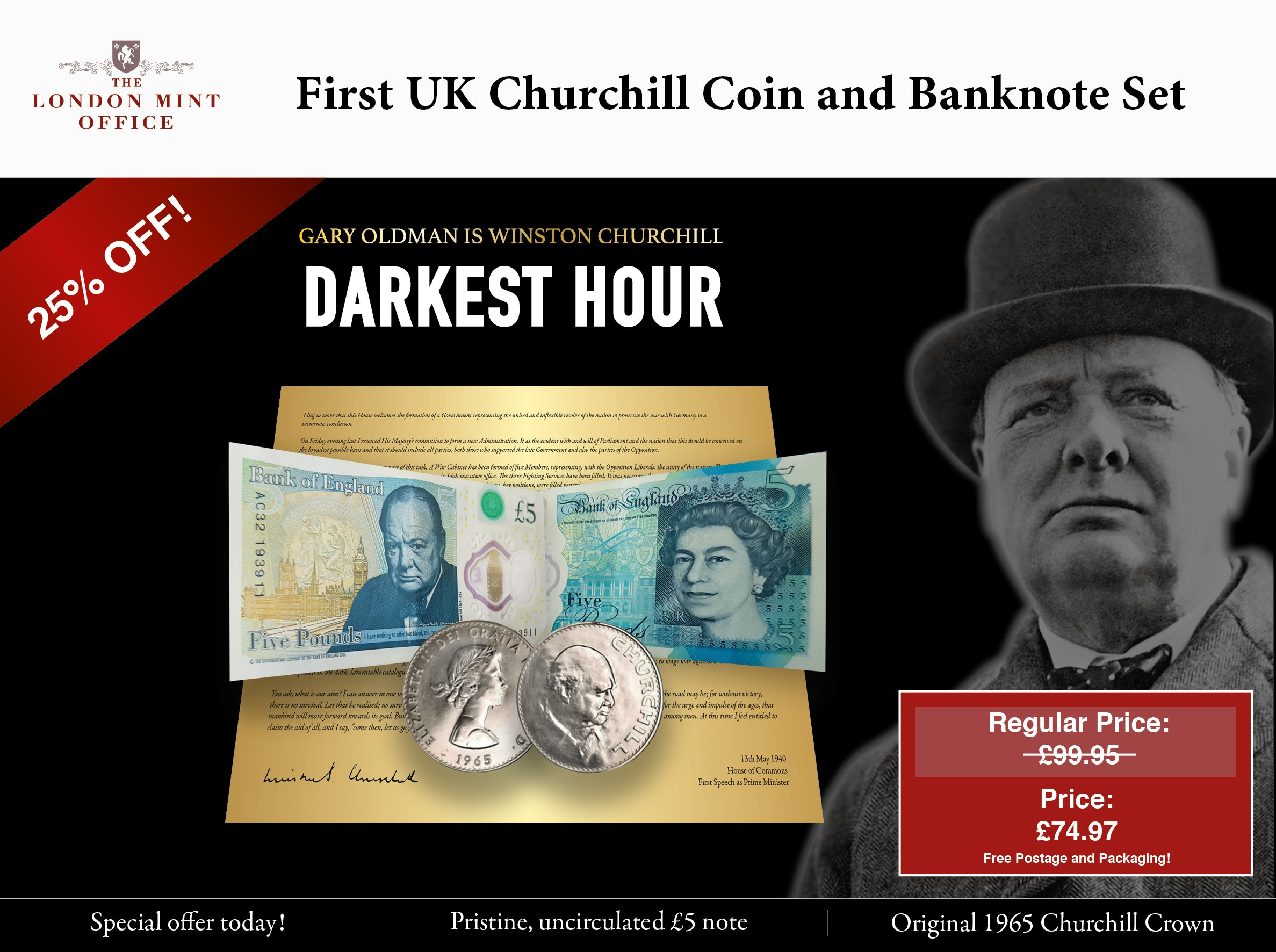 Blood, Toil, Tears and Sweat' – Sir Winston Churchill Remembered